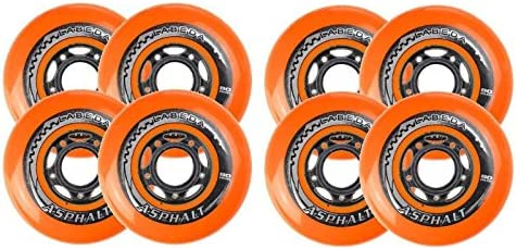 Ruedas de patines en línea Labeda Asphalt Orange - 72mm