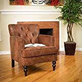 Best Club Chairs - Medford Brown Fabric Club Chair Review