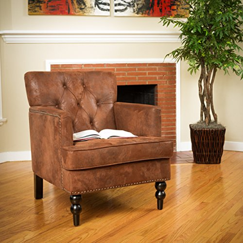 (Christopher Knight Home 294801 Malone Tufted Club Chair, Brown)