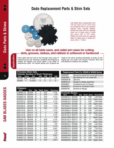 "Freud SD208C18 8"" Diameter X 1/8"" Thick X 2T Chipper Carbide-Tipped Saw Blade With 5/8"" Arbor For Freud SD208 Dado Set"