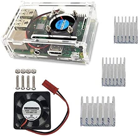 Raspberry Pi Caja, Ventilador de Refrigeración y Disipador de ...