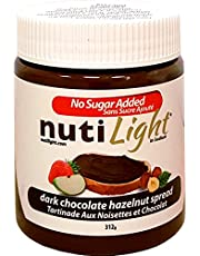NutiLight Dark Chocolate Hazelnut Spread, 312g