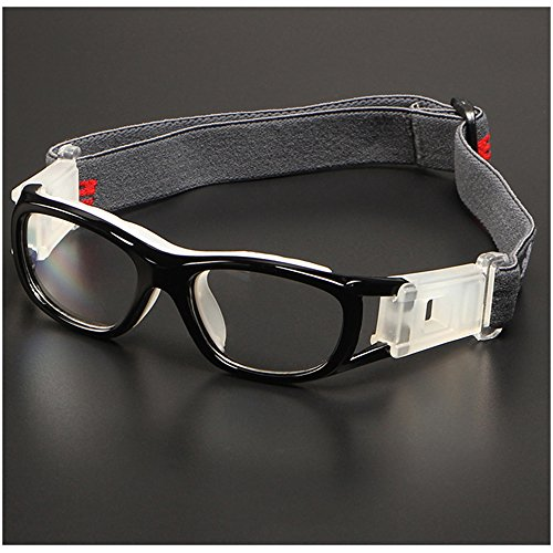 Children Sports Goggles,Kids Basketball Football Sports Anti Shock Collision PC Lens Protective Eye Glasses (Black) (Prescription Glasses Sports)