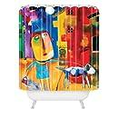 DENY Designs Robin Faye Gates Sylvia Needs Eggs Shower Curtain, 69 x 72