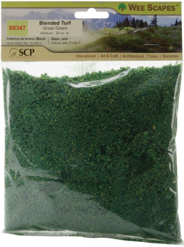 - Simi Creative Products Blended Turf 20 Cubic Inches, Grass Green