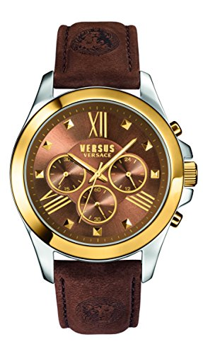 Versus by Versace Men's SBH030015 Chrono Lion Analog Display Quartz Brown - Versace Lion