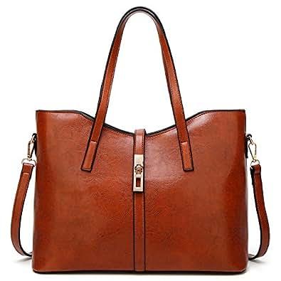 LoZoDo Womens Designer Purses and Handbags Ladies Satchel Tote Bag Shoulder Bags, Brown