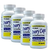 (Pack of 4) - Ivory Caps Skin Whitening Glutathione 240 Pills