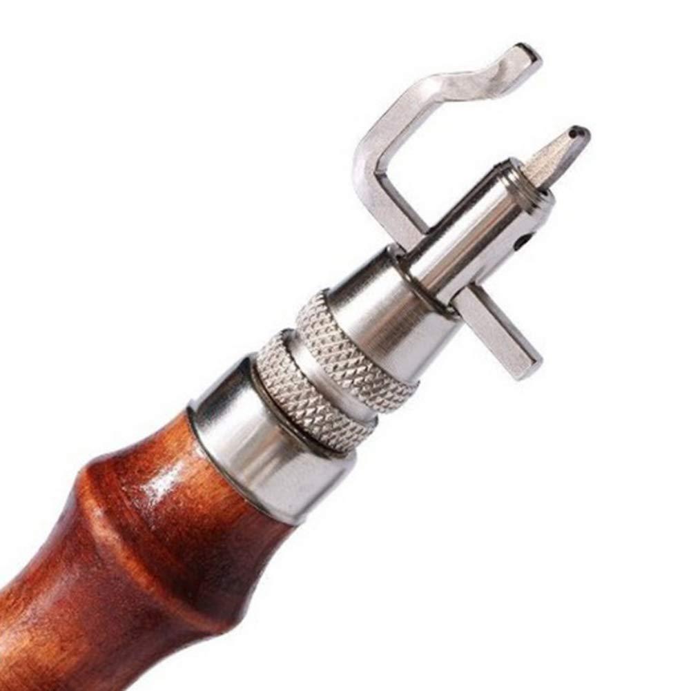 VKTY Herramientas para manualidades de piel 5 en uno para hacer manualidades de piel herramientas de artesan/ía en cuero biselado de piel para tallar bordes y recortar herramientas hechas a mano