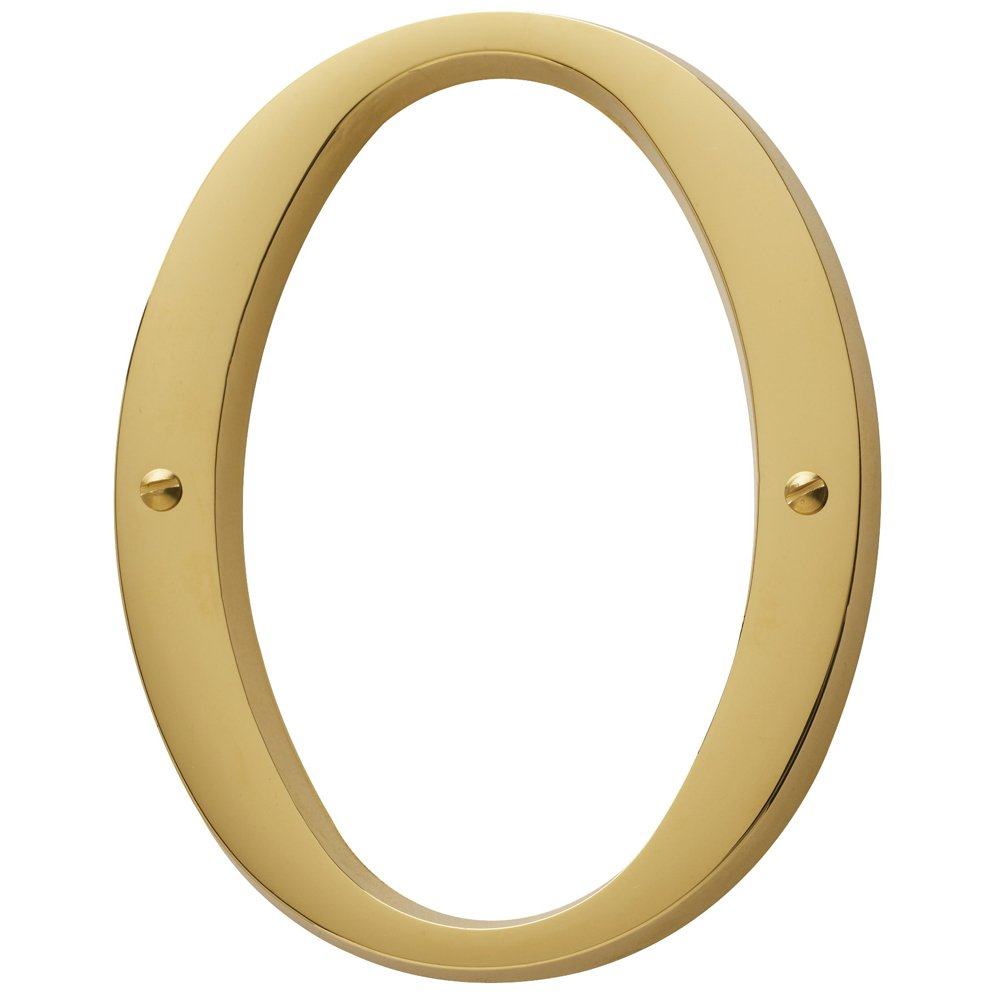 Baldwin Estate 90670.003.CD Solid Brass Traditional House Number Zero in Polished Brass, 4.75''