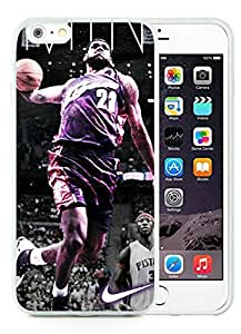 New Custom Design Cover Case For iPhone 6 Plus 5.5 Inch Cleveland Cavaliers Lebron James 10 White Phone Case