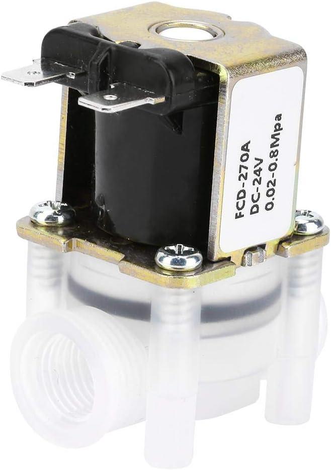 Válvula Solenoide Inserción Electromagnética Entrada Agua de Alimentación Normalmente Cerrada N/C Tipo 1/4 pulgada 24V CC