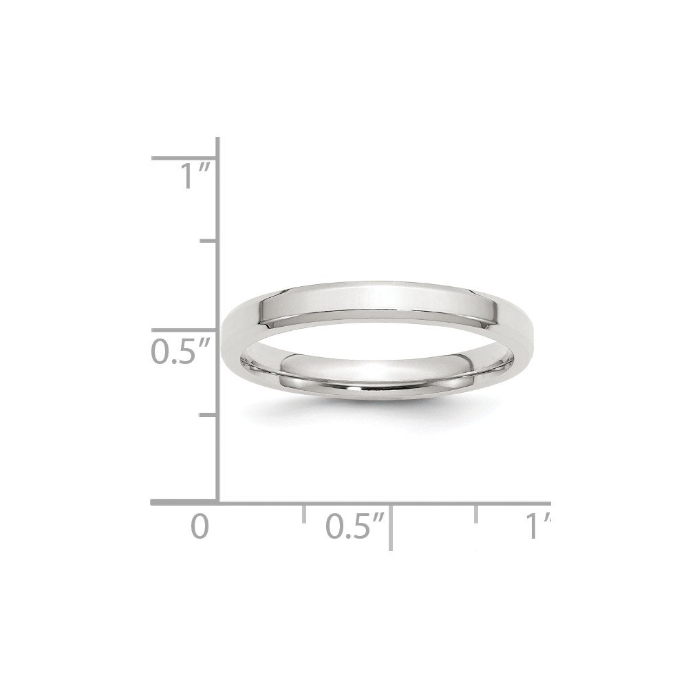 Wedding Bands Classic Bands Beveled Edge SS 3mm Bevel Edge Size 10 Band Size 10.5