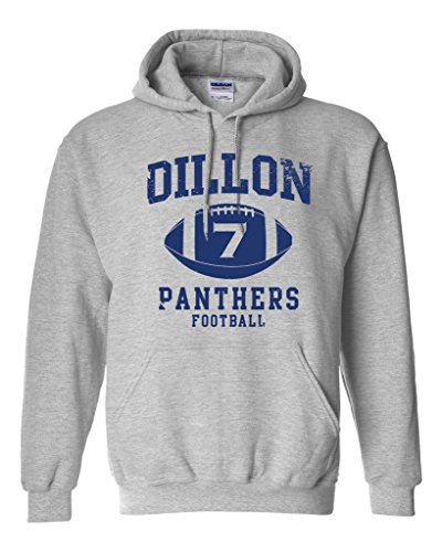Dillon 7 Football Retro Sports Novelty DT Sweatshirt Hoodie (X Large, Sports Gray)