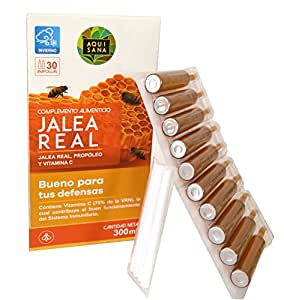 Jalea real con propóleo para mayor energía y vitalidad – Jalea con própolis y vitamina C para reforzar nuestro sistema inmune – 30 ampollas