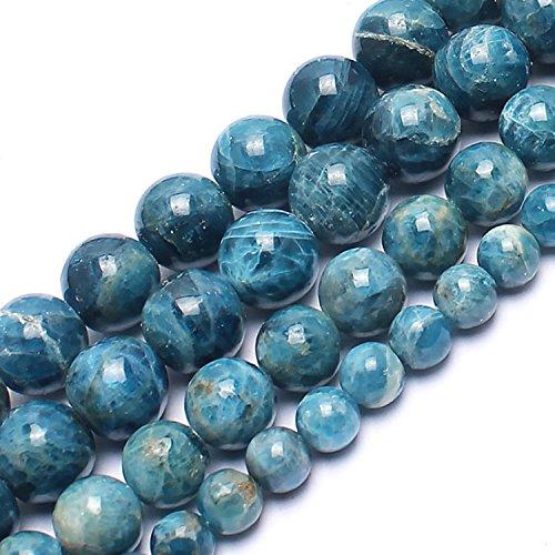 Love Beads Genuine Blue Ocean Apatite Beads Loose Gemstone Beads 10 mm