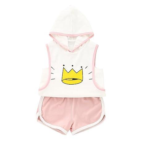 Vestidos Verano Baby Chándal Set Boy Girl con capucha Top y Short ...