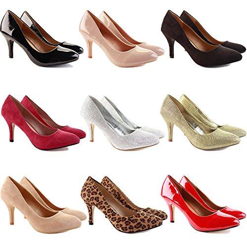 Dames Nouveau 8 Chic Talons Rouge Chaton Chaussures De Tribunal Milieu Shoegeeks Mariée Aiguilles De Des Taille Demoiselle Bureau Décontractée Pompes D'honneur Haut Et Bout Travaillent Femmes Daim Bas 3 Pointu pwCdnPFq