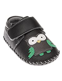 Tortor 1Bacha Infant Baby Boy Girl Owl Leather Soft Sole Loafers Crib Shoes