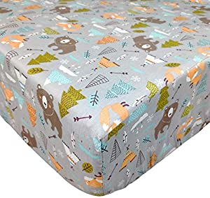 Win A Free Brandream Crib Sheets for Boys Woodland Bear Fox Arrow Baby...