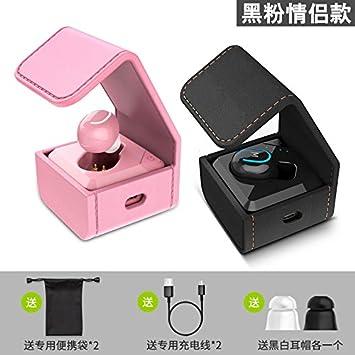 BLUEHUAF Caja de audífonos Auriculares inalámbricos Bluetooth Mini Ultra Pequeño Funcionamiento Invisible Conector Universal Auriculares internos