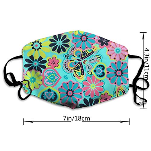 NOT Botanical Garden Aqua Print Personality Lovely Unisex Dust Mask, Suitable for Young Men and Women, Ski Bike Camping Windproof Motorcycle Face Mask