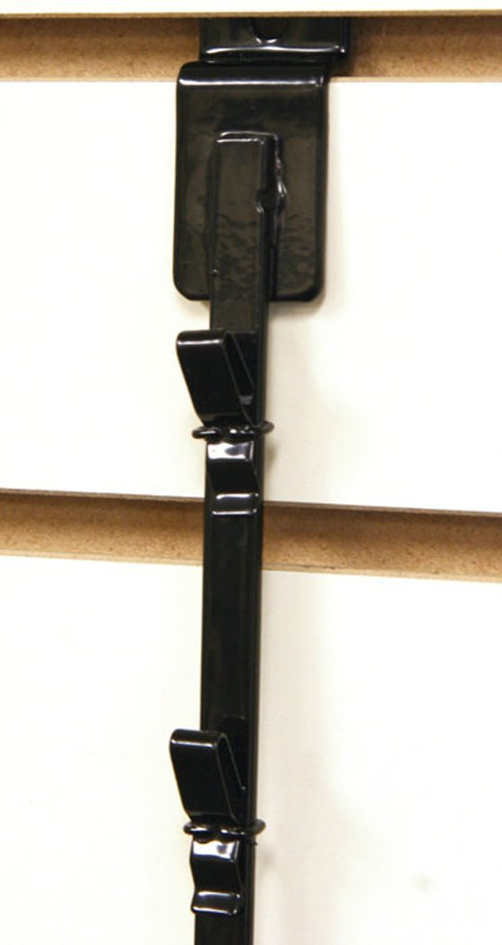 New Retail 12 Clips Slatwall Mount Clipper Display Single Black Strip by Counter Display (Image #2)