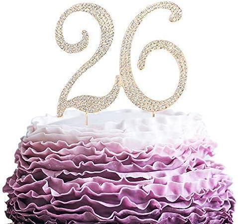 Anniversario Matrimonio 75 Anni.Queen54ferna Topper Per Torta Di Compleanno 26 Anni Con Strass