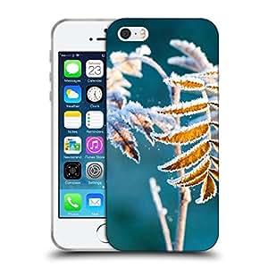 Super Galaxy Coque de Protection TPU Silicone Case pour // F00002393 Heladas decoración de la hoja hojas // Apple iPhone 5 5S 5G SE