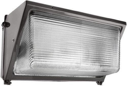 RAB WP3H250PS480 Wallpack 250W-Metal Halide Ps 480V HPF Glass Lens Pulse Start + Lamp, Bronze Color