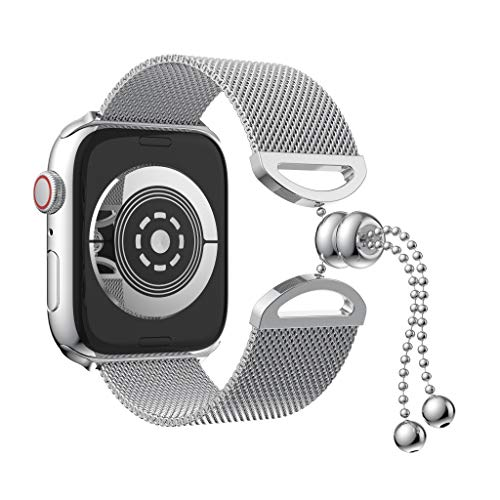 (Clearance Sale!DEESEE(TM)Luxury Milanese Stainless Steel Metal Bracelet Wristband Strap for Apple Watch Series (40mm,)