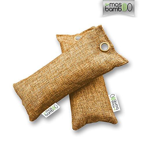 Schuh-Erfrischer »freShoes 2x75g« aus Bambus Aktiv-Kohle | Natürliche Alternative zu Schuh-deo oder Spray gegen Schimmel-Sporen, Pilze & Bakterien | Luft-Entfeuchter | Lufterfrischer Beutel für Küche, Bad, Schlafzimmer, Kleider-Schrank, Kühlschrank | Biologischer Luftreiniger gegen Gerüche ohne Duftstoffe oder Chemie | 60-Tage-Zufriedenheitsgarantie