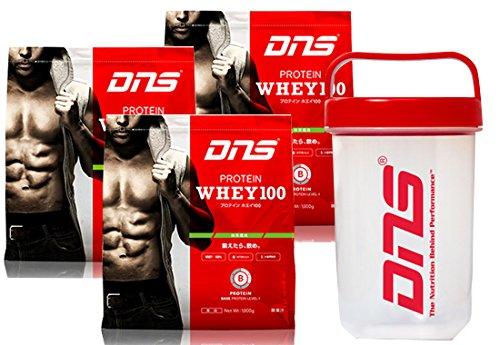 DNS プロテイン ホエイ 100 3kg + シェーカー セット (カフェオレ 風味) [ヘルス&ダイエット食品] B00L53ZOIE カフェオレ 風味