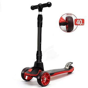 SYCHONG Scooter para Niños, Mini Scooter Plegable Ajustable ...