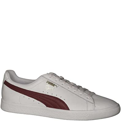 buy online b242c 13021 Puma Men's Clyde Core L Foil Puma Fashion Sneakers White/Cabernet/Puma Team  Gold 11 D(M) US