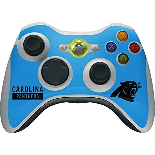 (Skinit NFL Carolina Panthers Xbox 360 Wireless Controller Skin - Carolina Panthers Blue Performance Series Design - Ultra Thin, Lightweight Vinyl Decal Protection)