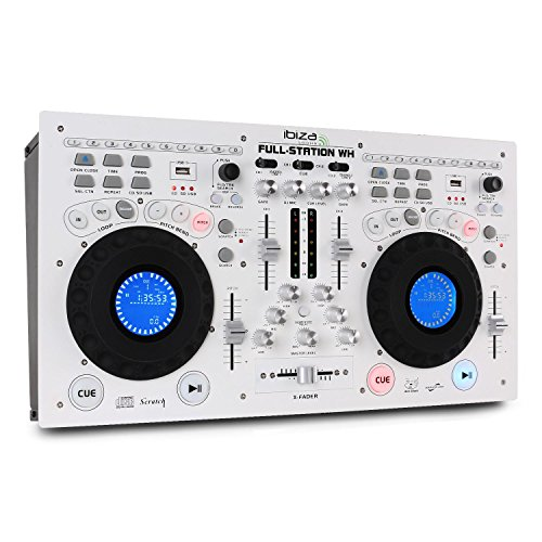 Ibiza FULL-STATION-WH DJ-Mixer, Weiß