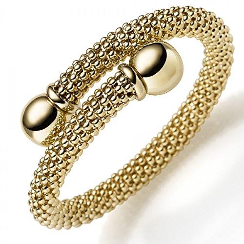 Framboise Bracelet Bracelet en or jaune 750, 8mm Largeur du rail