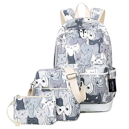Artone Cartoon Cats Daypack School Backpack Crossbody Bag Pe