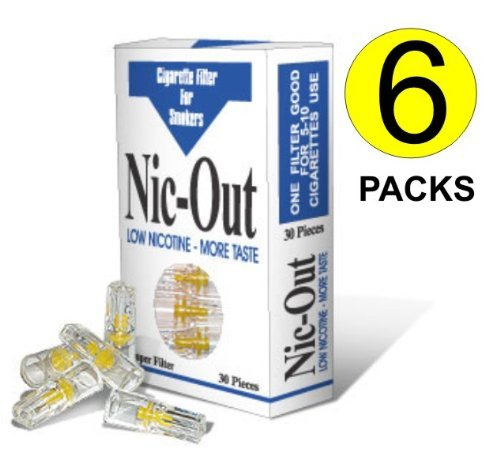 Nic-Out 30 Cigarette Filters 6 Pack