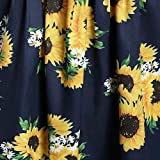 TWGONE Sunflower Dresses for Women Plus Size V-Neck Short Sleeve Tops Casual
