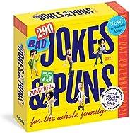 290 Bad Jokes & 75 Punderful Puns Page-A-Day Calendar