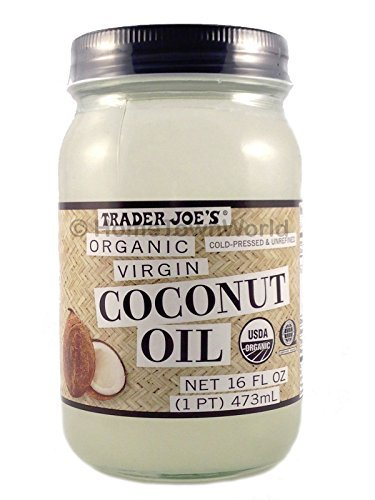 NEW Trader Joes(16 fl oz) Coconut Certified Organic Extra Virgin Coconut Oil by Trader Joes