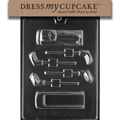 Dress My Cupcake DMCS089 Chocolate Candy Mold, Golf Bag and Club Open