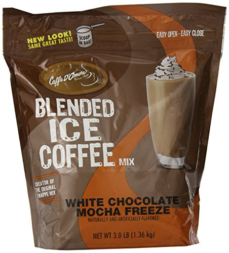 Frappe Freeze Iced Coffee White Chocolate Mocha Blended Drink Mix, 3 Pounds ()