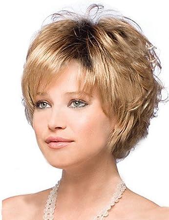 Europäischen Mode Perücken Haar Kurze Blonde Haare Perücken