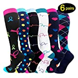 Compression Socks For Women Men 20-25mmHg-Best Medical, Nursing, Travel & Flight Socks - Running & Fitness Compression Stockings (S/M, Assorted)