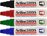 Artline 5109A Extra Thick Whiteboard Pens - Pack 4