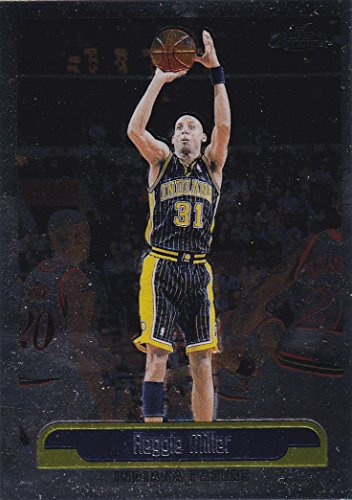 1999-00 Topps Chrome Indiana Pacers Team Set with Reggie Miller & Jalen Rose - 10 NBA Cards