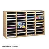 Scranton & Co Medium Oak 36 Compartment Wood Adjustable File Organizer